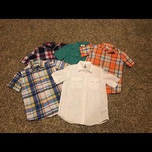 Lot of 5 boys Sz 8 button down shirts